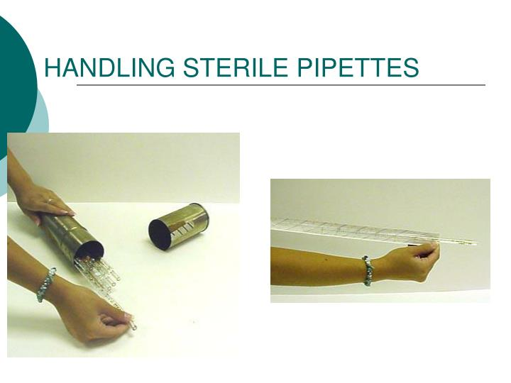 HANDLING STERILE PIPETTES