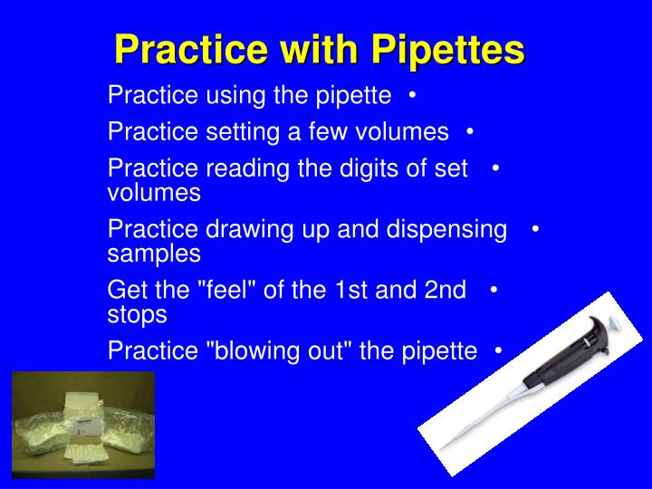 Practice with Pipettes