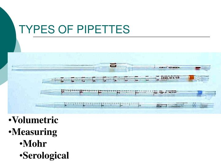 TYPES OF PIPETTES