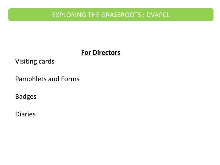 For Directors