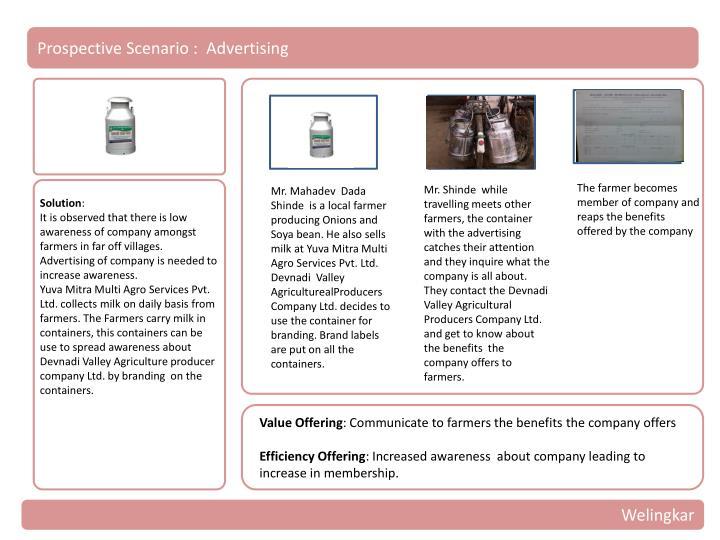 Prospective Scenario :  Advertising