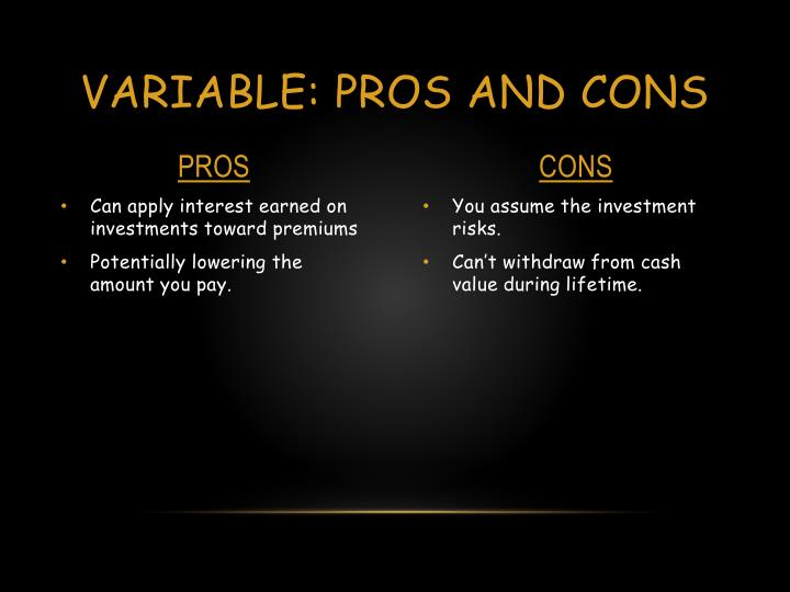 Variable: Pros and cons