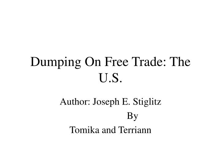dumping subsidy and trade disputes essay