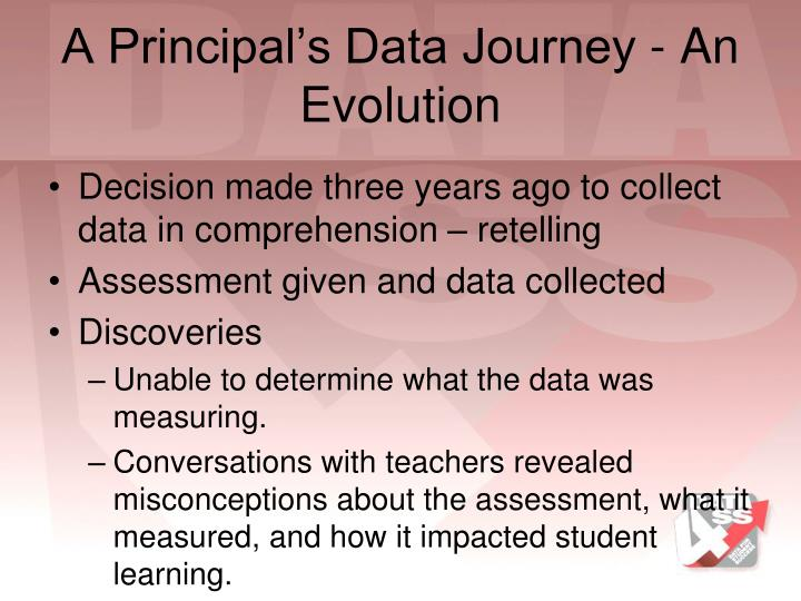 A Principal's Data Journey - An Evolution