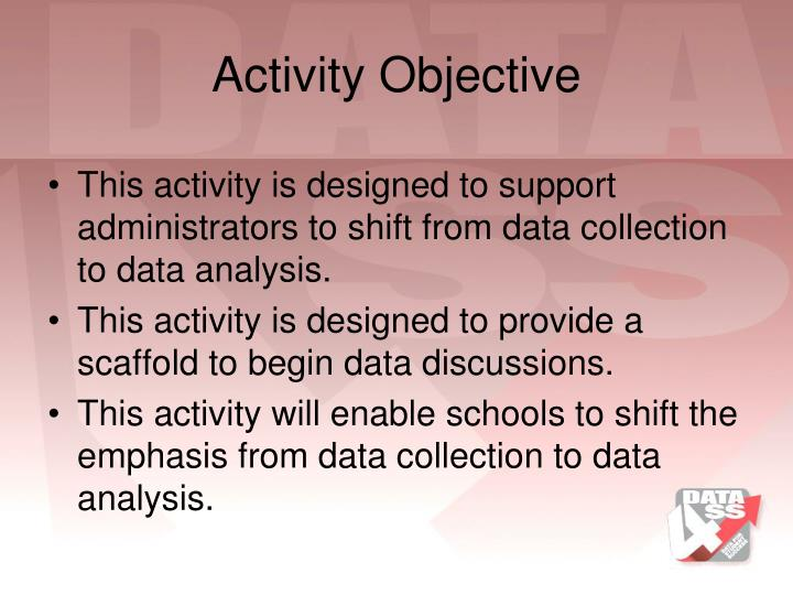 Activity Objective