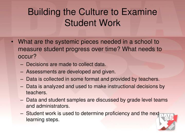 Building the Culture to Examine Student Work