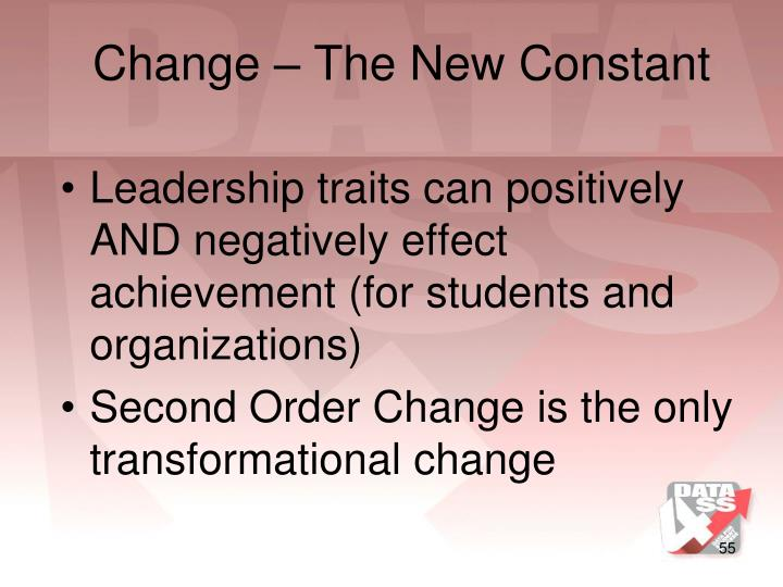 Change – The New Constant