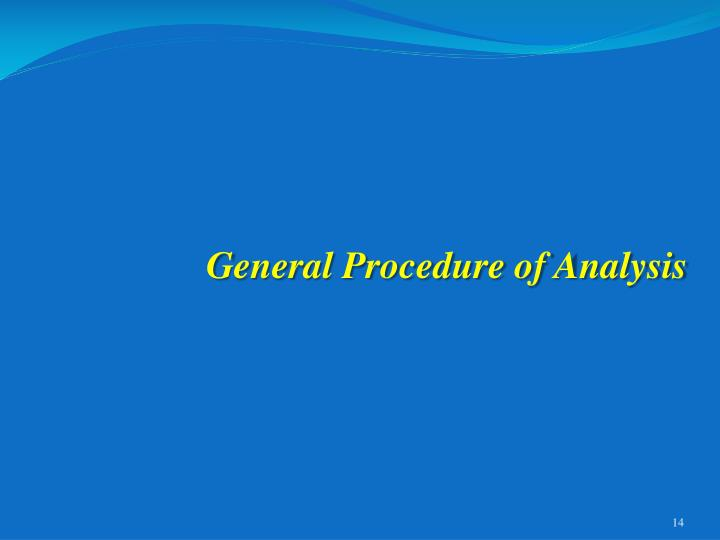 General Procedure of Analysis