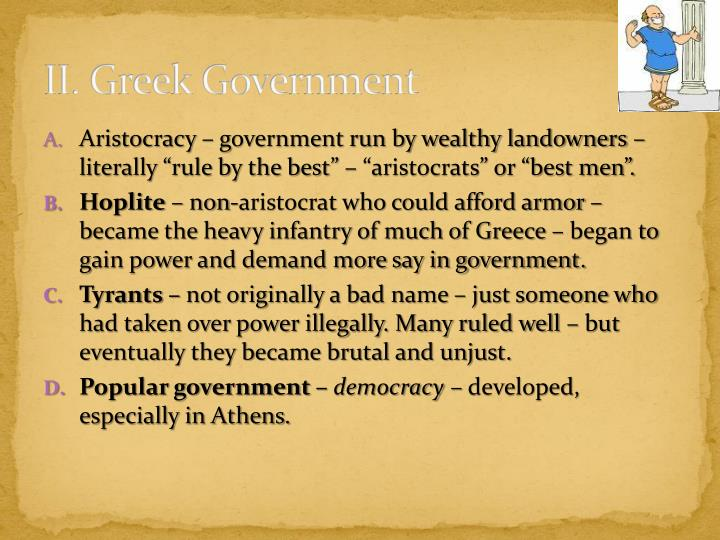 II. Greek Government