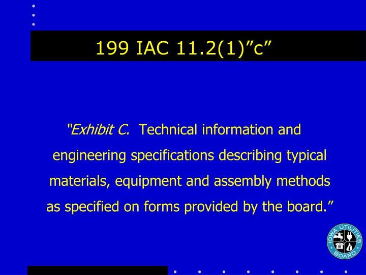 """199 IAC 11.2(1)""""c"""""""