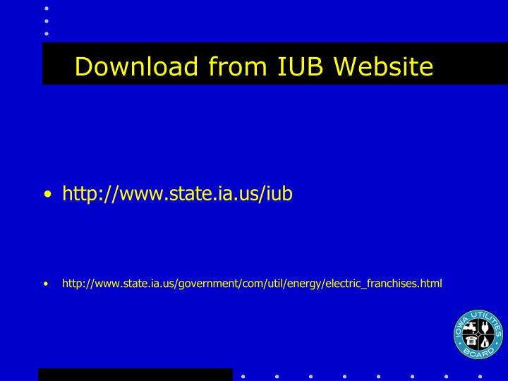 Download from IUB Website