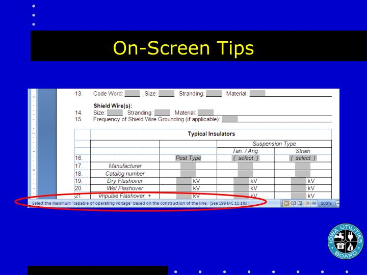 On-Screen Tips