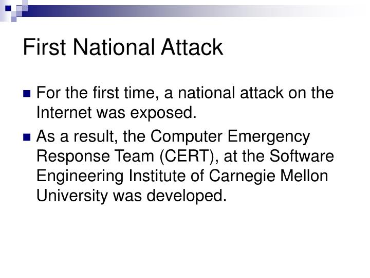 First National Attack