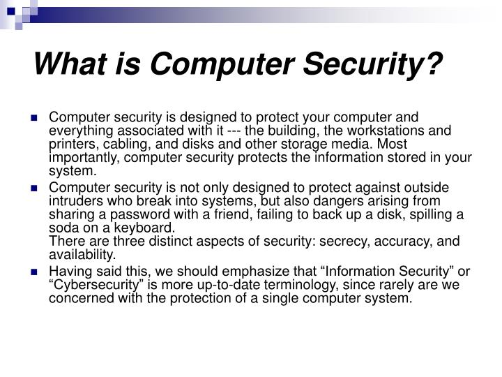 What is Computer Security?