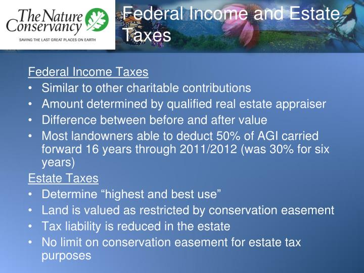 Federal Income and Estate Taxes