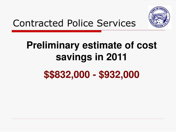 Contracted Police Services