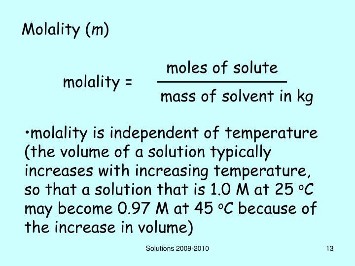 moles of solute