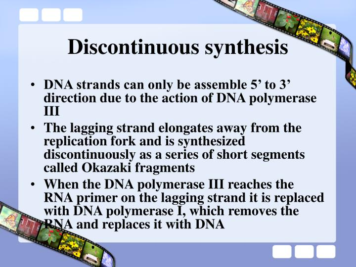 Discontinuous synthesis
