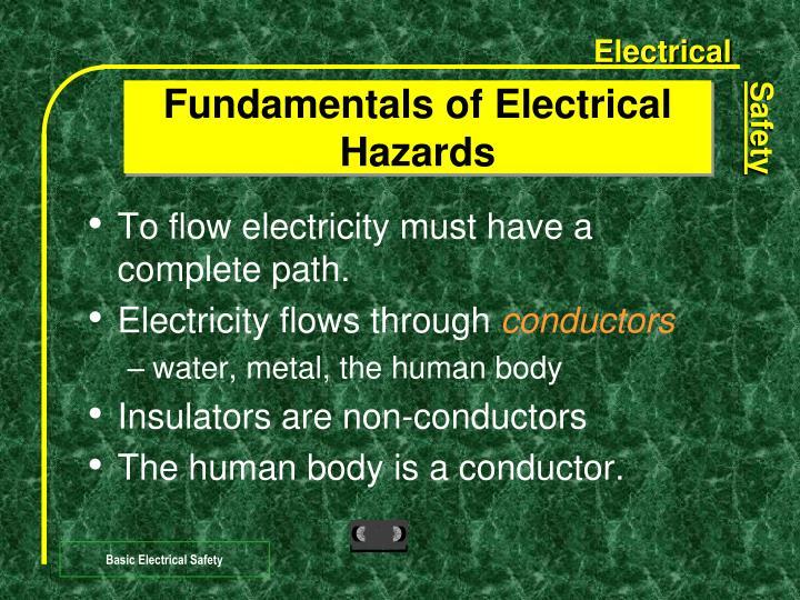Fundamentals of Electrical Hazards