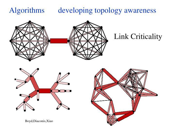 Algorithms       developing topology awareness