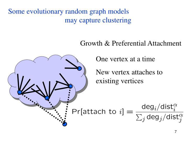 Some evolutionary random graph models