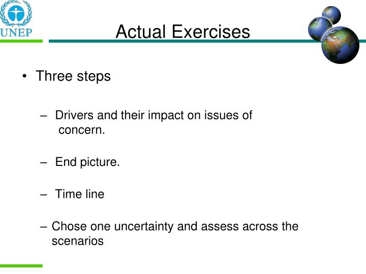 Actual Exercises