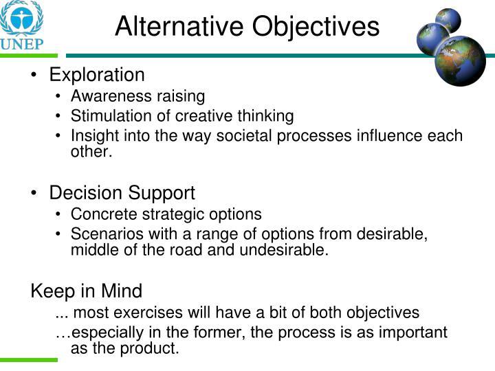 Alternative Objectives