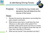d identifying driving forces