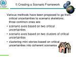 f creating a scenario framework1