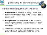 g elaborating the scenario narratives1