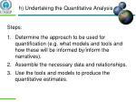 h undertaking the quantitative analysis1