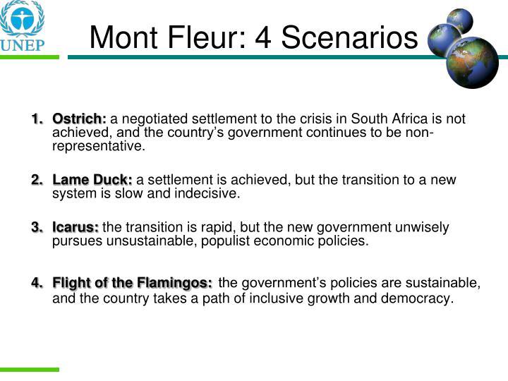 Mont Fleur: 4 Scenarios