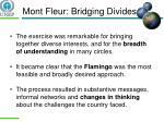 mont fleur bridging divides