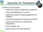scenarios for participation