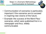 steps in a scenario methodology communication outreach