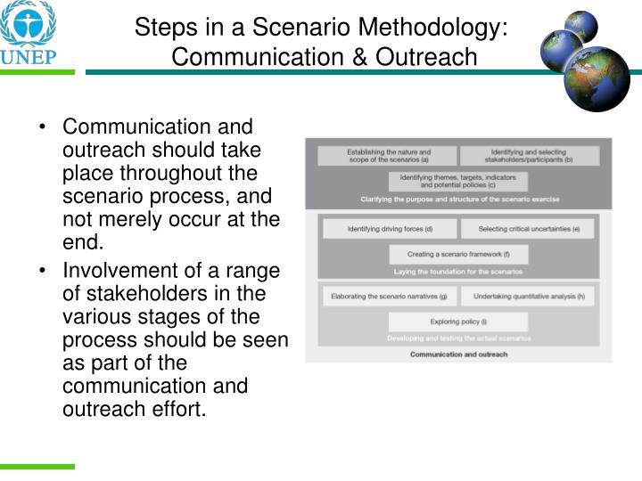 Steps in a Scenario Methodology: