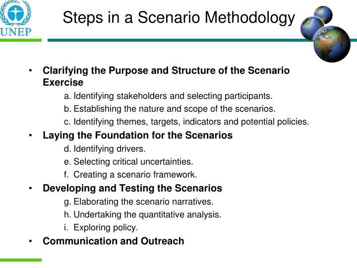 Steps in a Scenario Methodology