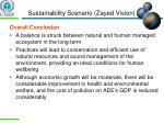 sustainability scenario zayed vision1