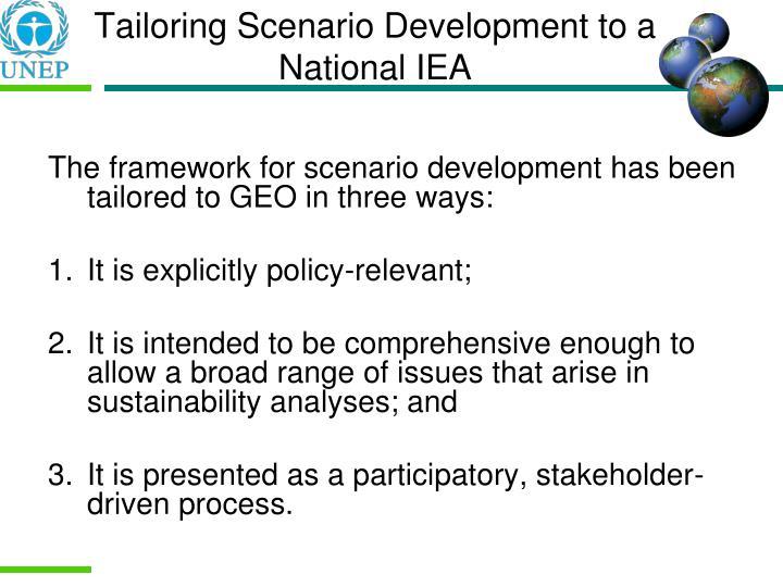 Tailoring Scenario Development to a National IEA