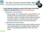 the gcc countries and the world 2025
