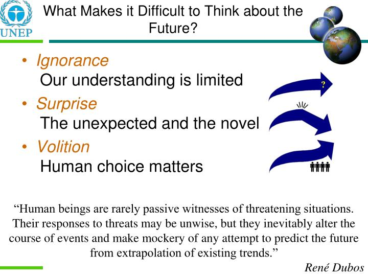 What Makes it Difficult to Think about the Future?