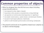 common properties of objects