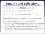 equality and collections