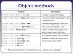 object methods