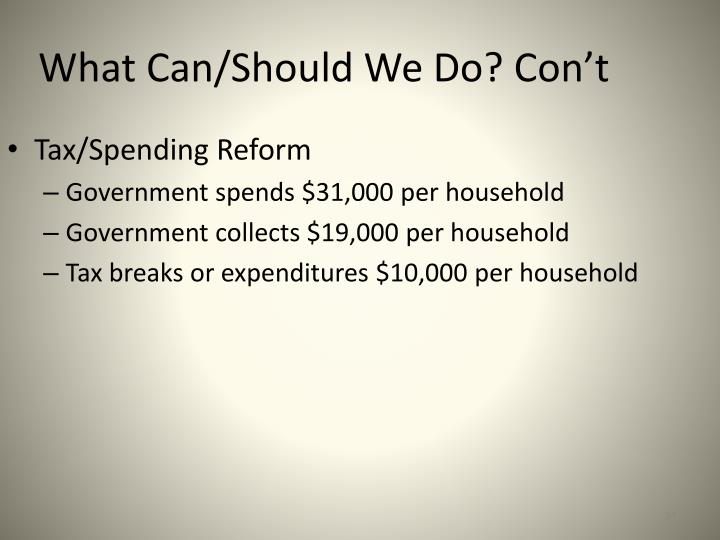 Tax/Spending Reform