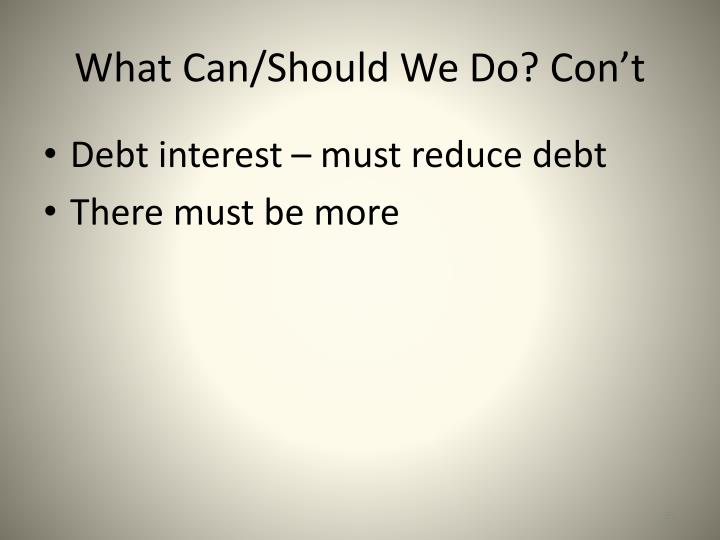 Debt interest – must reduce debt