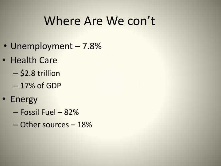 Unemployment – 7.8%