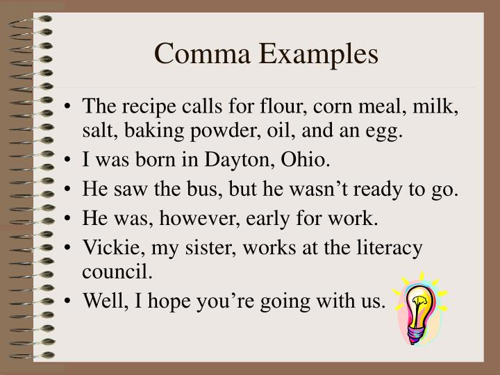 Comma Examples
