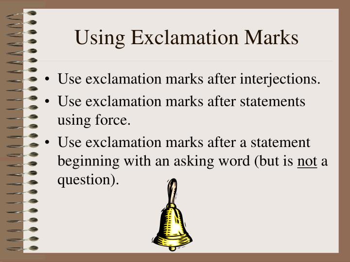 Using Exclamation Marks
