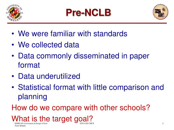 Pre-NCLB